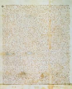 マグナ・カルタのオリジナル。これ、読む気する?ラテン語ですので、やめと... マグナ・カルタ